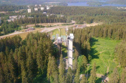 Näkyma Puijon tornista